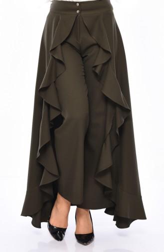 بورون بنطال بتصميم قصة تنورة مُزين بالكشكش 31229-01 لون أسود 31229-03