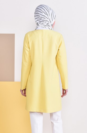 Klassische Jacke mit Tasche 8002A-02 Gelb 8002A-02