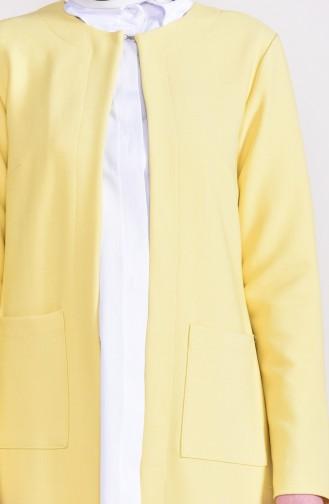 Cepli Klasik Ceket 8002A-02 Sarı