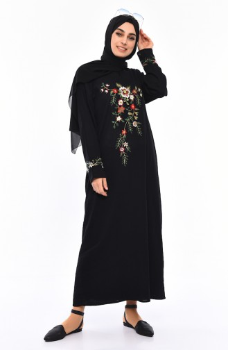Embroidered gauze Cloth Dress 0300-05 Black 0300-05
