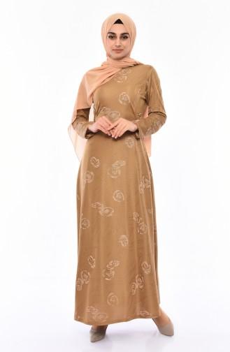Robe a Paillettes 1125-03 Vison 1125-03