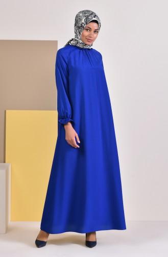 Saxe Hijab Dress 1012-03