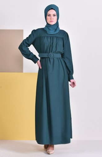Robe Hijab Vert emeraude 5020-05
