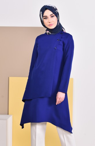 Buttons Detailed Tunic 8213-05 Saxon Blue 8213-05