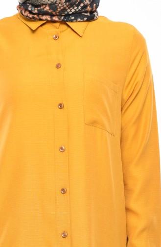 Viscose Pocketed Tunic 8227-01 Mustard 8227-01