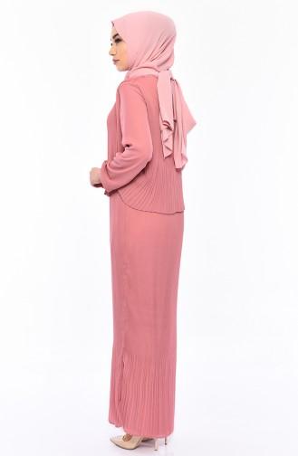 Kleid mit Plisee 81679-04 Puder Rosa 81679-04