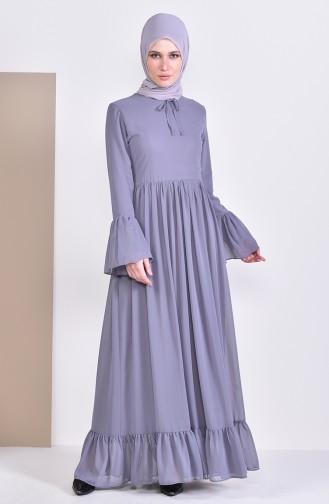 فستان رمادي 81693-03