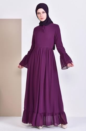 بورون فستان بتصميم طيات 81693-05 لون ارجواني 81693-05