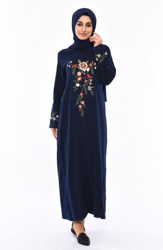 Dunkelblau Hijap Kleider 0300-04