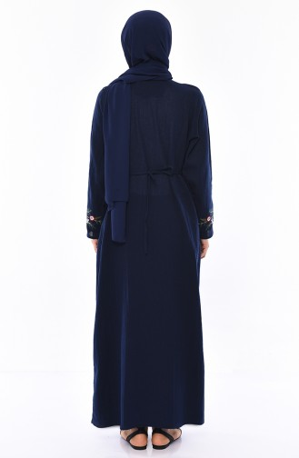 Embroidered gauze Cloth Dress 0300-04 Navy 0300-04