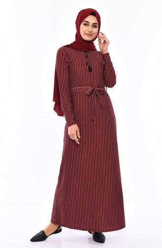 Claret red Dress 4162-05