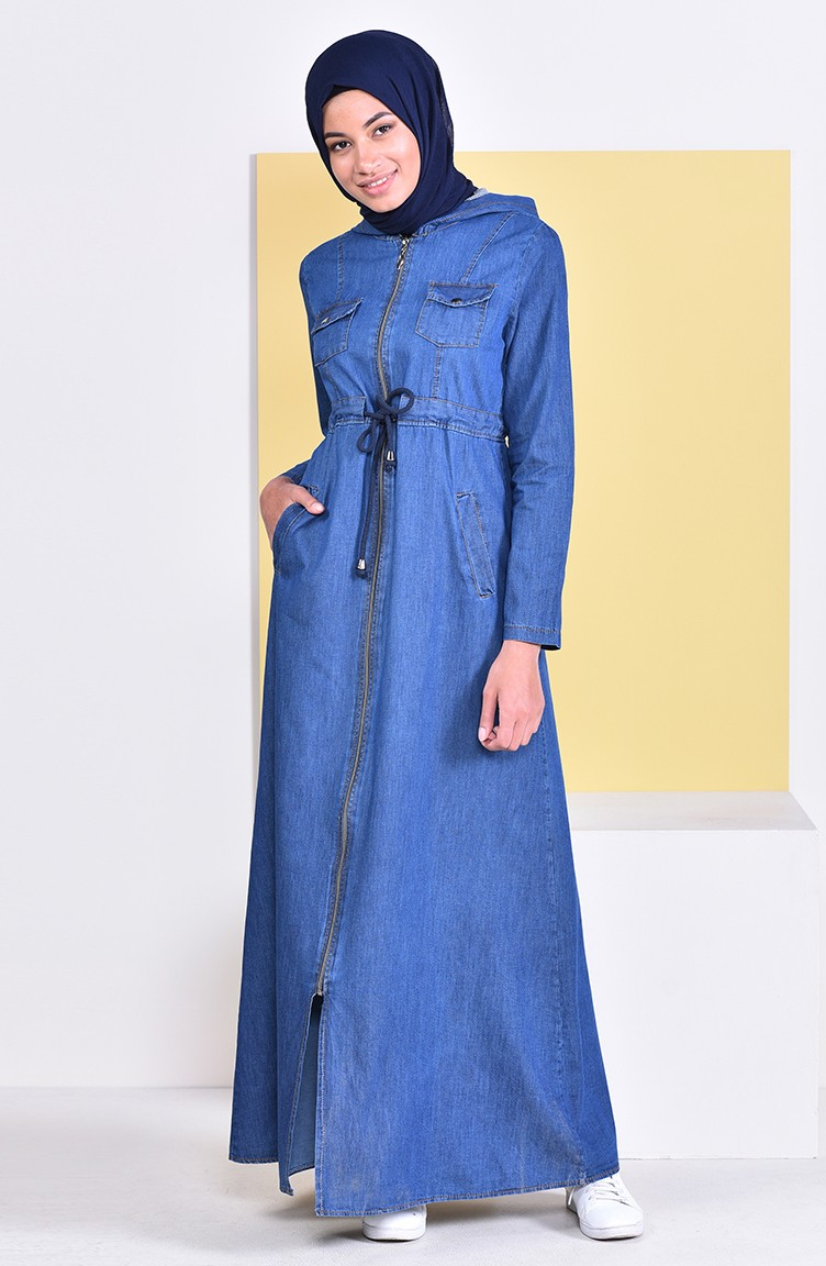 30c632be27a Hooded Jeans Abaya 4031-02 Navy Blue 4031-02