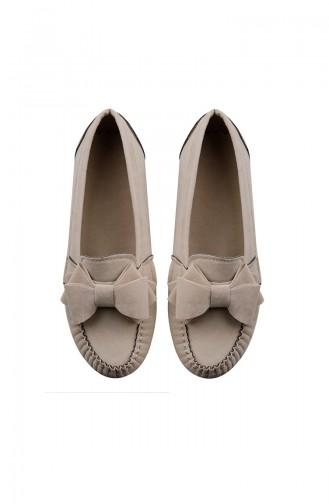 Cream Woman Flat Shoe 0104-22