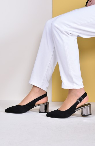 Black Heeled Shoes 8402-2