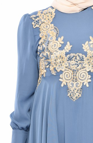 MISS VALLE  Lace Evening Dress 8750-06 Blue 8750-06