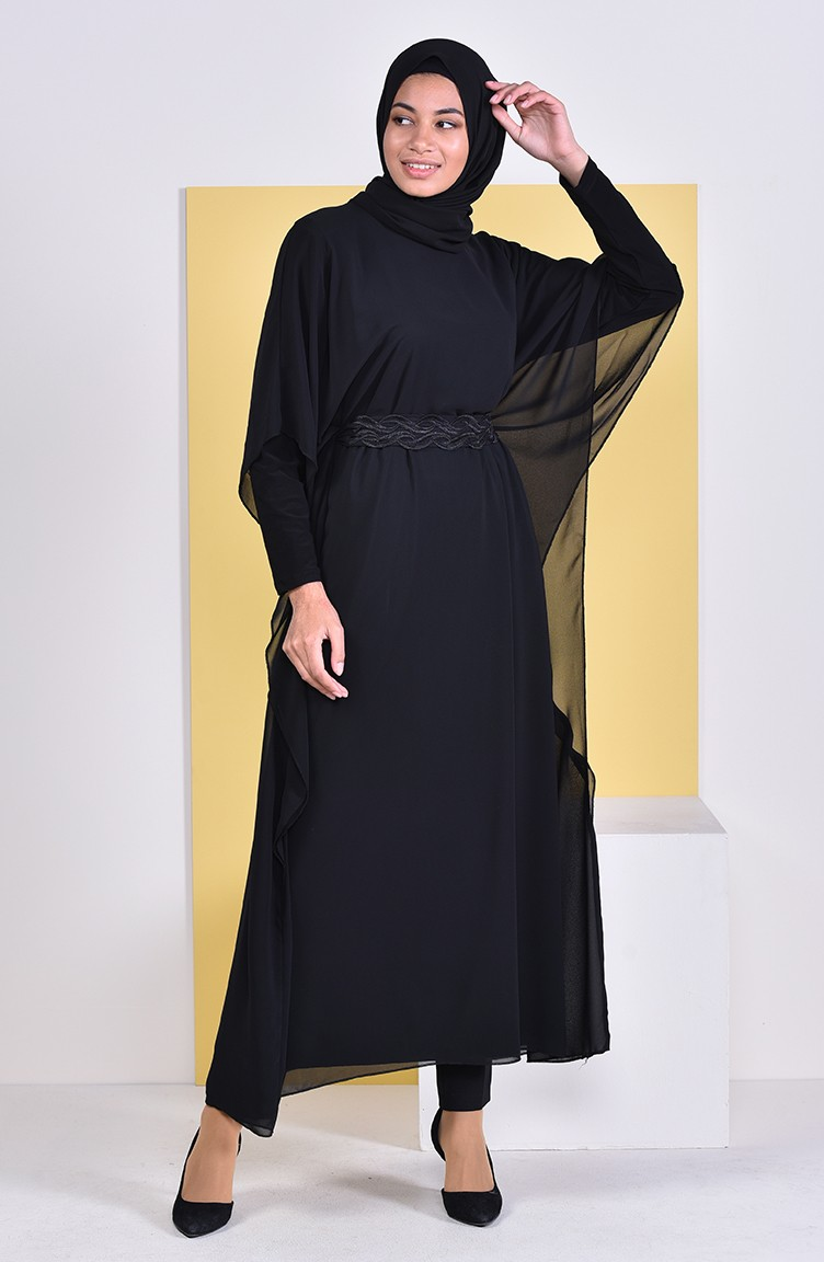 52fdc070739 Belted Long Tunic 1951-01 Black 1951-01