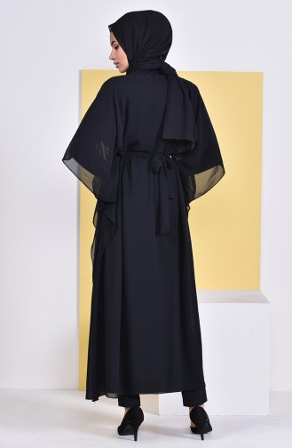 Belted Long Tunic 1951-01 Black 1951-01