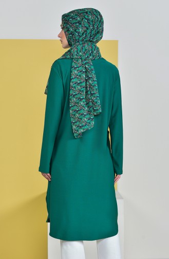 Pocketed Tunic 50307-03 Emerald Green 50307-03