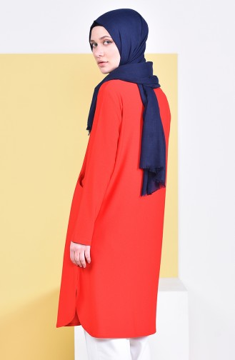 Tunique avec Poches 50307-05 Rouge 50307-05
