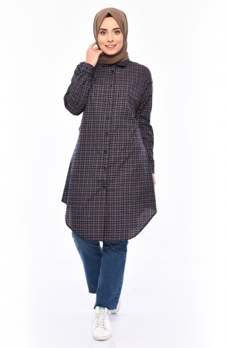 Plaid Tunic 6363-03 Mustard 6363-03