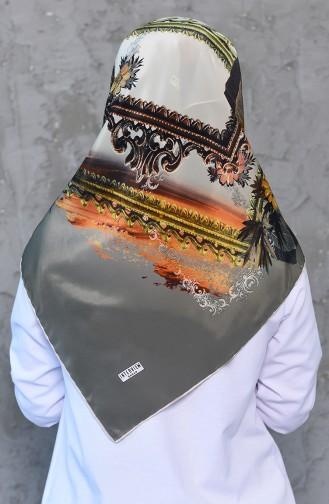 Sarar İnterviev İnci İpeği Eşarp 7014-02 Haki