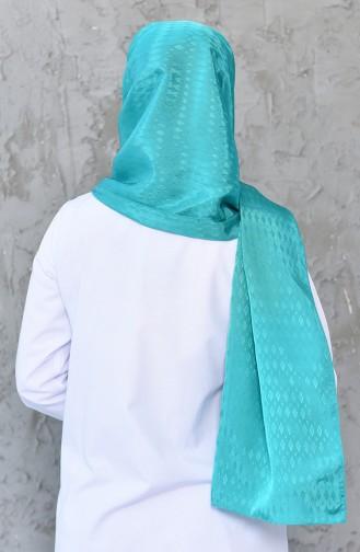 Patterned Satin Shawl 4226-01 Almond Green 4226-01