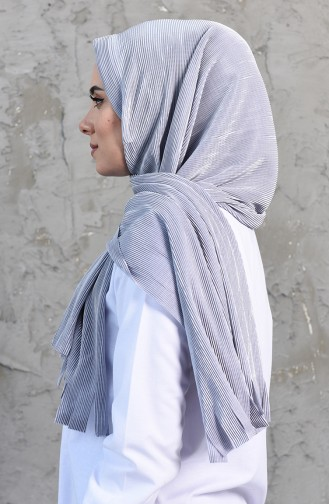 Pleated Practical Viscose Shawl 1033-06 Gray 1033-06