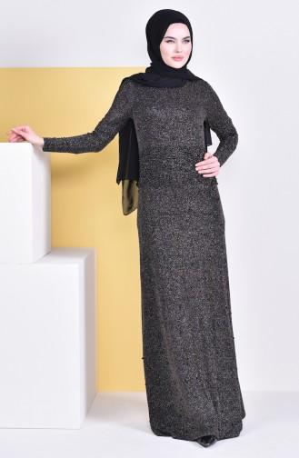 Gospel Silvery Evening Dress 31596-01 Black  31596-01