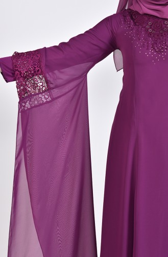 Robe de Soirée Perlées 8426-05 Plum 8426-05
