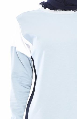 بدلة رياضية بتفاصيل 9029-02 لون ازرق فاتح 9029-02