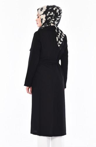 Black Long Coat 7942-01