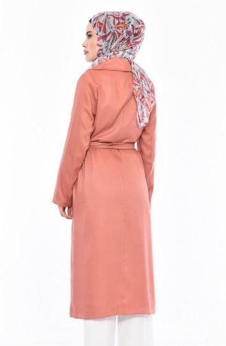 Dusty Rose Long Coat 7942-05