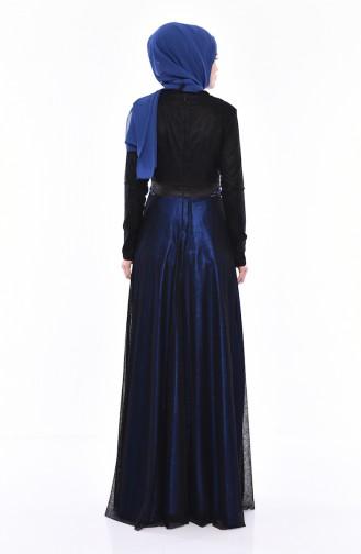 Stone Evening Dress 31568-01 Black Saks 31568-01