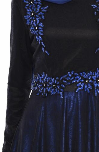 فساتين سهرة بتصميم اسلامي أسود 31568-01
