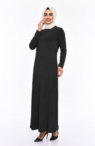 Robe a Motifs 8805-01 Noir 8805-01