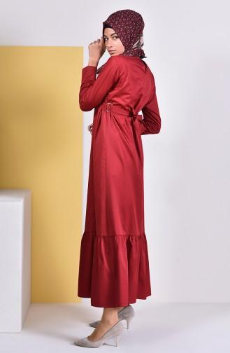Robe a Ceinture 5253-04 Bordeaux 5253-04