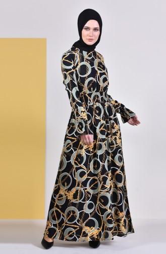 Khaki Hijap Kleider 8147-03