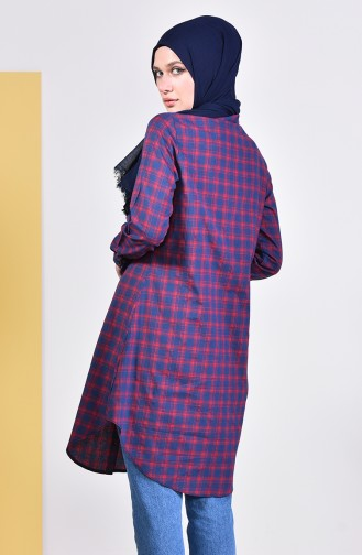 Ekose Tunik 6362-02 Bordo
