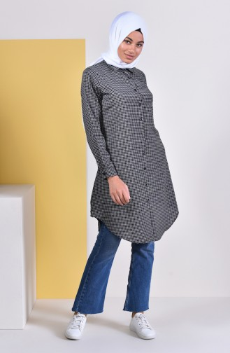 Plaid Tunic 6364-04 Black 6364-04