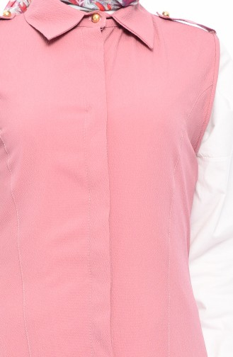 Gömlek Yaka Yelek 4514-02 Gül Kurusu 4514-02