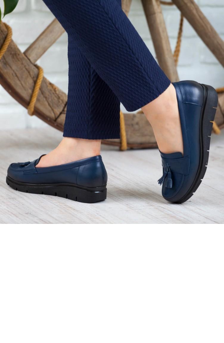 Chaussures Pour 162ktrk0004007 A162ktrk0004007 Bleu Cuir Femme Derimiss Marine mnN0v8w