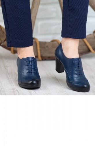 Derimiss Kadın Topuklu Ayakkabı A152Ktrk0007007 Lacivert Deri