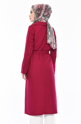 Fuchsia Long Coat 7942-02