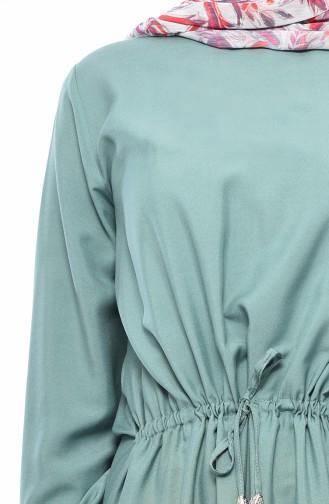 Robe Taille Froncée 1200-04 Vert Noisette 1200-04