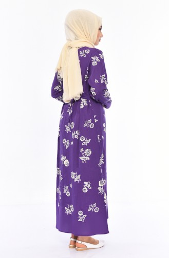 Purple İslamitische Jurk 0450-02