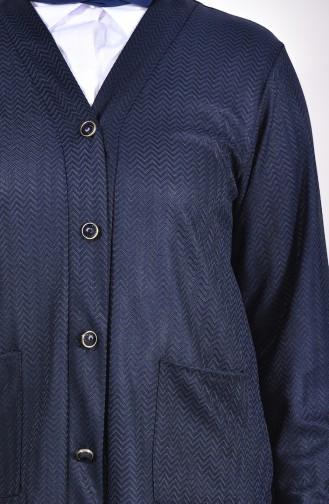 Navy Blue Cardigan 4701A-01