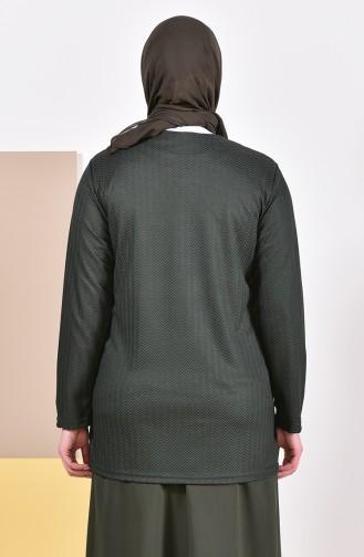 Khaki Strickjacke 4701A-04