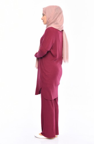 Tunic Pants Binary Suit 3311-12 Plum 3311-12