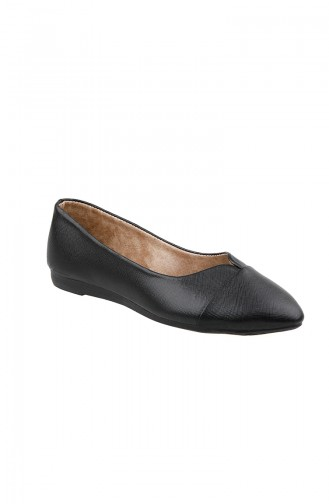 Black Woman Flat Shoe 0113-16