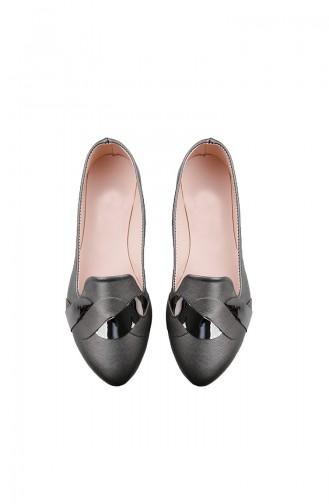 حذاء مُسطح نسائي باليرينا 0119-05 لون رمادي 0119-05
